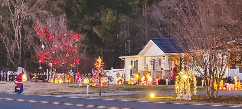 Marshall Blalock won first place in the 2020 Stem Christmas light contest sponsored by the town of Stem.
