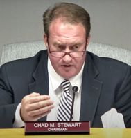 Commissioners Chairman Chad Stewart says the board welcomes public comment, criticism included.