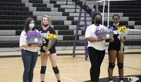 Granville Central honored its volleyball seniors Hannah Lynch, left, and Jada Green last week.