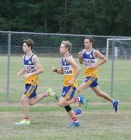 Wilson Christian runners, from left, Seth Trull, Lin Scott and Connor Ford run during the Wilson County Championship meet Oct. 4 at Wilson Christian, which will host its seventh annual Pumpkin Run on Thursday. More than 25 schools will be represented at the meet.