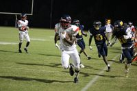 Southern Nash running back Tralon Mitchell breaks a run down the sideline during Thursday's game at Rocky Mount. Mitchell had 135 yards and a touchdown in the Firebirds' 45-27 victory.