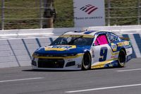Chase Elliott (9) drives during a NASCAR Cup Series auto racing race at Charlotte Motor Speedway on Sunday in Concord, N.C. AP