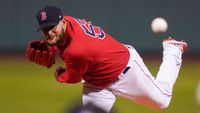 Boston Red Sox pitcher Eduardo Rodriguez delivers against the Tampa Bay Rays during the first inning of Game 4 of an American League Division Series game Oct. 11 in Boston.
