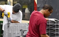 Employees are shown working on PenCell Plastics products in a Hubbell Power Systems factory tour video for its facility in Rocky Mount.