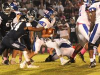 Wake Forest running back Mike DiPasquale scored two rushing touchdowns in the 23-12 win at Heritage.