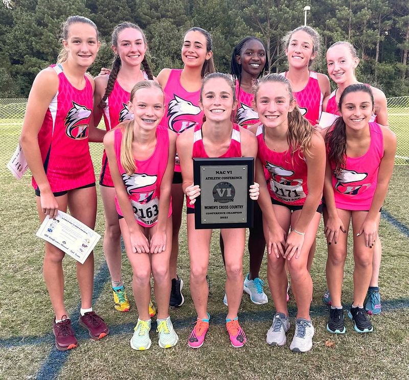 Heritage's girls cross-country team won its third NAC 6 conference championship in a row. Contributed Photo