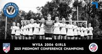 In this graphic from Wilson Youth Soccer Association, the WYSA 06 U16 Girls clinch the U.S. Youth Soccer's National League Piedmont Conference for their age group with a 6-0 mark this fall. WYSA will play its final regular-season match Sunday at Gillette Athletc Complex.