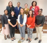 Members of the third Wilson Leadership Institute class recently graduated from the 18-month program. Pictured in the top row from left are Cameron Cochran, Dante Pittman, Betsy Peters Rascoe and Kellianne Davis. In the bottom row from left are Chanel M. Wilson, Maria Ramirez, E.J. Story, Nickie Womble and Jessica Williams. Sydney Williford is not pictured.