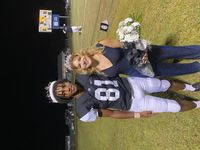 The Panthers crowned their Homecoming King, Kanye Owens, left and Homecoming Queen, Allison Iliffe.