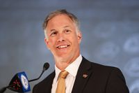 FILE - Wake Forest head coach Dave Clawson answers a question during an NCAA college football news conference at the Atlantic Coast Conference media days in Charlotte, N.C., in this Thursday, July 22, 2021, file photo. (AP Photo/Nell Redmond, File)