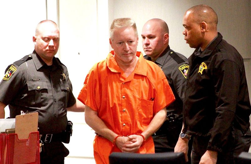Lynn Rex Keel pleaded no contest to second-degree murder on Monday in wife Diana Keel's 2019 beating death. Keel is shown here making his first court appearance in March 2019.
