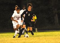 Wake Forest's Nathan Cochran recorded an assist in the 3-0 win against Rolesville.