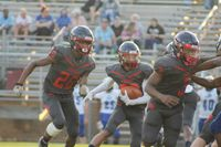 The Southern Nash High School Firebirds running the ball during a recent victory. Rocky Mount Mayor Sandy Roberson and N.C. Sen. Lisa Barnes have a friendly wager riding on Thursday's game.