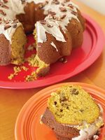 This delicious pumpkin Bundt cake starts with a yellow cake mix.