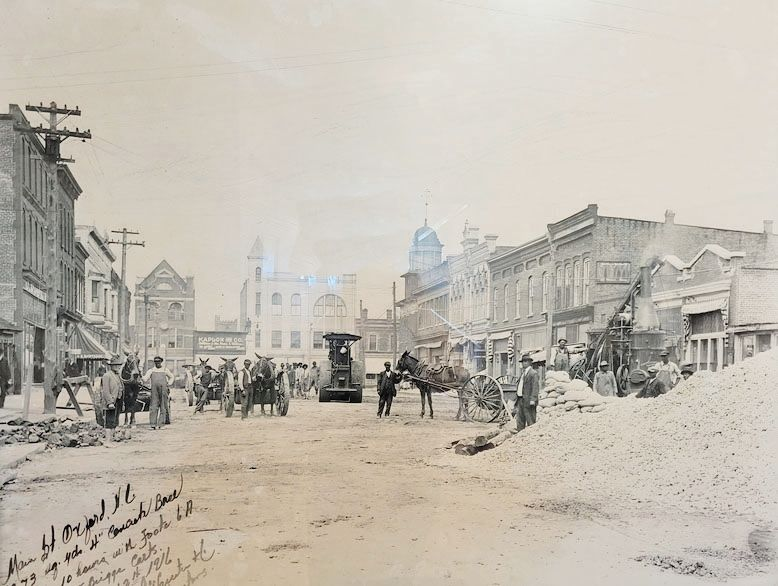 Construction is underway in downtown Oxford in this undated photo.