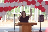 Lynn Cooper sang a powerful rendition of the National Anthem during the opening of the Granville County 275th Anniversary celebration on Saturday.