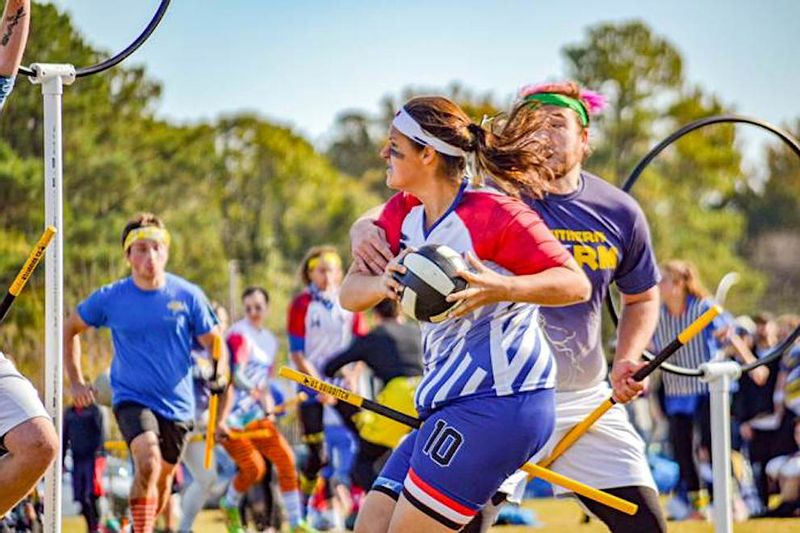 U.S. Quidditch athletes compete in the 2019 Mid-Atlantic Regionals held at Goldsboro's Bryan Multi-Sports Complex. Travel and tourism agency Visit Goldsboro is a finalist to hold the regional championship tournament again next year.