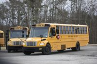 Busses roll up to pick up students at South Granville High School last school year.