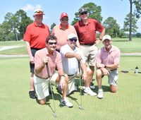 Members of the 1968 N.C. State baseball team that reached the College World Series were on hand Wednesday at the North Carolina Baseball Museum's 19th annual Celebrity Golf Tournament at Wedgewood Public Golf Course. Pictured  are, front from left, Francis Combs, Mike Caldwell and Freddie Combs. Back: Alex Cheek, John Lancaster and Tommy Smith.