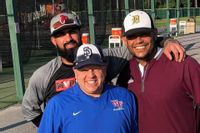Rob Woyicki, bottom, pictured with his teammates Carlos Mata, left, and Ed Genao, right. Contributed Photo
