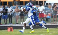 Nigel Lucas scored the first points of the game for the Cougars on a 93-yard kickoff return for a touchdown. The junior receiver also caught three passes for 63 yards receiving.