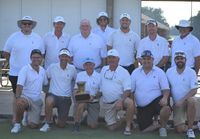 Wilson Country Club captured a record 11th championship in the 28th annual Wilson Cup interclub golf competition that concluded Sunday afternoon at Wedgewood Public Golf Course. WCC edged Wedgewood 12 1/2-11 1/2. Club members, front from left, are Derek Hamm, John Hearn Walston, Bill Boles Jr., Kent Williams, Jonathan Bissette and Dwayne Baker. Back row: Seth Pattan, Clint O'Hara, head professional Reid Hill, Kyle Norville, Matt Figg and Todd Wilkinson.