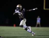 Fike's Khamani Barnes glides in the open field during an Aug. 20 game against Beddingfield at Buddy Bedgood Stadium. The Demons return to action following a two-week break induced by COVID-19 when they host Wilmington New Hanover. Sheldon Vick | Special to the Times