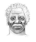 Charlotte-Mecklenburg police circulated this sketch of T-Bone, a homeless man found dead in an abandoned house in 2019.
