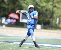 Barton quarterback Jaquan Lynch, throwing a pass during the season opener Sept. 4 against Newberry at Truist Stadium, enjoyed a big day passing and running the football Saturday as the Bulldogs won 38-25, their first victory since reviving the program last spring.