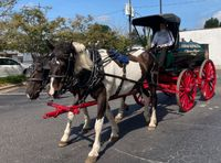 The oil wagon begins its journey from downtown Kenly to the Tobacco Farm Life Museum, its new home.