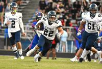 Coleson Fields led Heritage with 110 rushing yards and two scores at Athens Drive. Contributed Photo by Sara Cunningham.