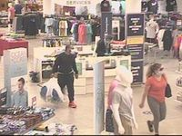 Authorities released surveillance footage of two suspects from a Belk store in Raleigh were a stolen credit card was used. Contributed photo