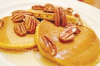 Switch up your breakfast routine with these delicious pumpkin pancakes.