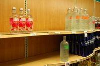 Some top-shelf vodkas have been hard to come by. Some tequilas too.