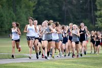 Runners met Aug. 31 for the first cross-country meet of the season hosted by Falls Lake Academy.